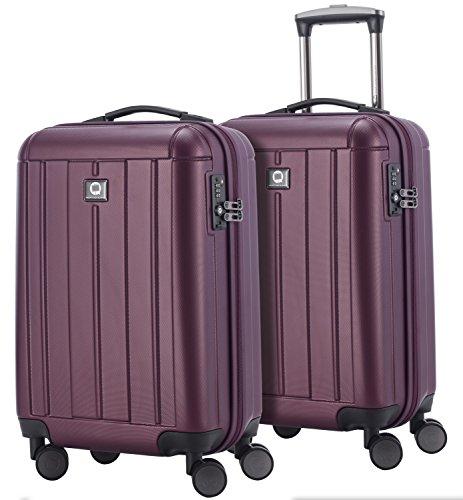 HAUPTSTADTKOFFER - Kotti - 2er Koffer-Set Trolley-Set Rollkoffer Reisekoffer Handgepäck, TSA, (S & S), Burgund matt