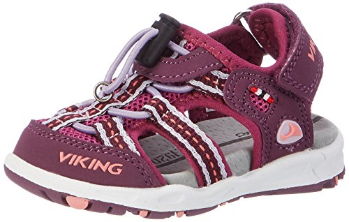 viking Unisex-Kinder Thrill Geschlossene Sandalen, Pink (Plum/Dark Pink 6239), 27 EU