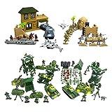 Black Temptation 300 PCS Kid Toy Set Plastic Soldiers Gifts Mesa de Arena Modelo Toy Cars-5CM