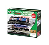Kato USA Model Train Products N F40PH and Gallery Bi-Level Commuter Series Chicago Metra UNITRACK Starter Set