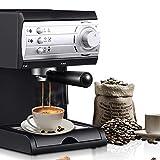 Elektrische Espresso Espressomaschine, 850W / 1.5L / 20 Bar Hochdruck-Dampf Semi-Automatic für Heim...
