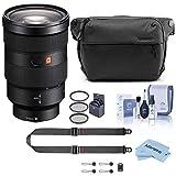 Sony FE 24-70mm f/2.8 GM E-Mount Lens - ALC-F82S Front Lens Cap - R1EM Rear Lens Cap for E-Mount Lenses (Dark Gray) - ALC-SH141 Petal-Shaped Lens Hood - Lens Case - Sony 1 Year Limited Warranty - Peak Design SlideLITE Strap Black - Peak Design 6L Eve...