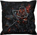 Spiral Burnt Rose Unisex Kissen schwarz Baumwolle Gothic, Romantik