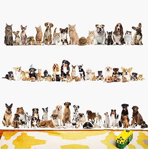 Kat plinten muur Sticker Hond Muur PVC Muursticker Lijm Kunst Behang Animal Party Home Decoratie DIY Verwijderbaar 60 * 90cm