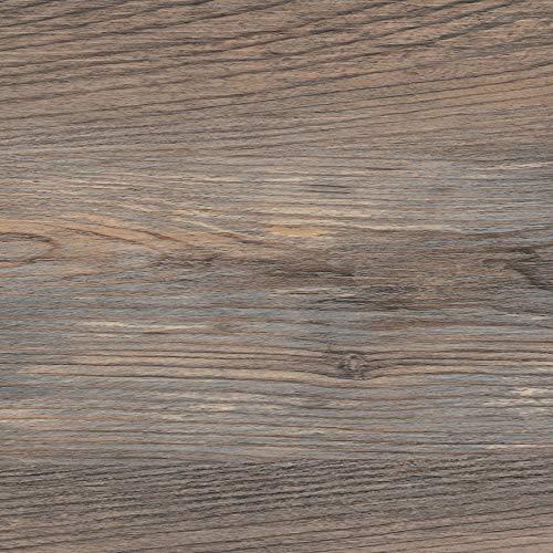 FloorPops FP3323 Knotting Hill Peel & Stick Floor Tiles, Brown, 10 Square Feet