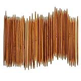 Fashion SHOP Ganchillos 55pcs / Set 11 Tamaños de bambú Agujas de Tejer Ganchillo Ganchos de Doble Punta de la Aguja carbonizado suéter de la Armadura del hogar Manualidades Herramientas (Color : B)