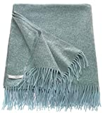 ESPRIT Melange Sofadecke blau • weiche Kuscheldecke • Tagesdecke 150x200 cm • Leicht zu pflegene Couchdecke • 100prozent Polyacryl