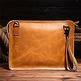 WanJiaMen'Shop Männliche Vorhaut Pack Umhängetasche Messenger Bag Leder Dokument Messenger Tasche,...