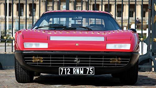 GUANGMANG Kits De Pintura De Diamante Para Adultos,1973 Ferrari 365 Gt4 Auto Coche Taladro Completo Rhinestone Bordado De Punto De Cruz Fotos Arts Craft Home Decoración De Pared