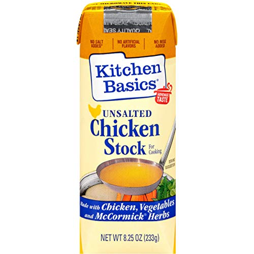 Kichen Basics Unsalted Chicken Stock, 8.25 fl oz (Pack of 12)
