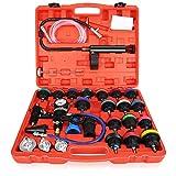 Anbull 28PCS Universale Kit Rilevatore Perdite Serbatoio Acqua Benzina Tester Pressione Radiatore, Auto rilevatore di perdite Serbatoio Acqua, Kit Tester per Sistema di Raffreddamento per Auto