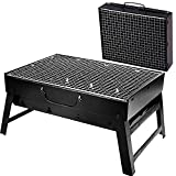 Fusion Online LARGE FOLDABLE STEEL BBQ BARBECUE STAND FLAT PORTABLE CAMPING OUTDOOR GARDEN GRILL NEW