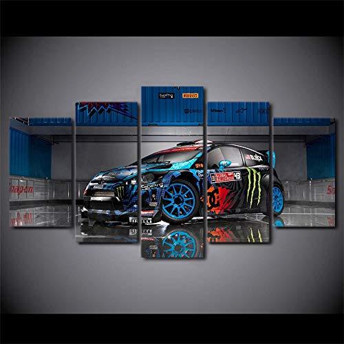 WHOOPS 5 Poster gedruckt auf Leinwand von Ford Fiesta Automobile St Rx43, verwendet für Moderne Dekoration Schlafzimmer Wohnzimmer Wanddekoration 5 Stück 30 * 40 * 2 30 * 60 * 2 30 * 80Cm Frameless