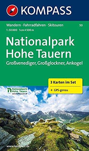 Nationalpark Hohe Tauern 1 : 50 000: Großvenediger, Großglockner, Ankogel. 3-teiliges Wanderkarten-Set. GPS-geeignet. 1:50.000