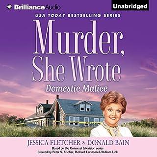 Murder, She Wrote: Domestic Malice audiobook cover art