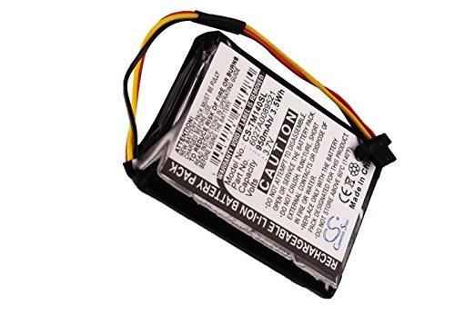 CS-TM140SL Batería 950mAh Compatible con [Tomtom] 1EK0.052.02, 4EK0.001.02, Go 50, Go 500, GO 600, One 140, One 140S, One 140S US sustituye 6027A0089521, AHA11110005, FMB0932008731, P2, VF65, VF6D, V
