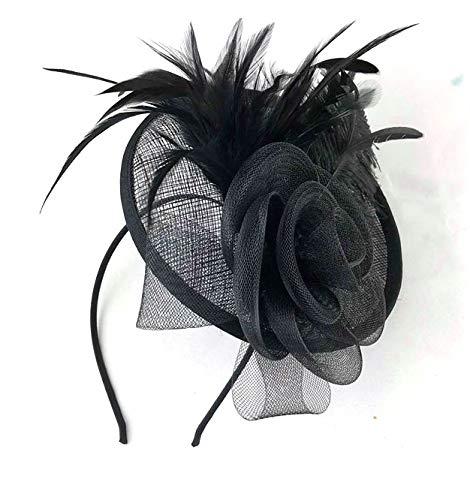 Allsorts Large Black Hat Fascinator Weddings Ladies Day Race Royal Ascot by Allsorts
