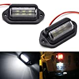iJDMTOY (2) 12V Add-On 6-SMD LED Lamps Compatible With Truck SUV Trailer Van As License Pl...