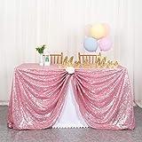 ShinyBeauty - Mantel de lentejuelas plateado, mantel de lentejuelas para manteles navideños, mantel rectangular para de toallitas para bodas / fiestas, 60 x 102 pulgadas (60x102 pulgadas, rosa fucsia)