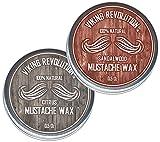 Best Mustache Waxes - Mustache Wax 2 Pack - Beard & Moustache Review