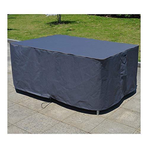 YMYP08 Set Tisch Und Stuhl-Abdeckung, Sonnenschutz Regen-Abdeckung, Außen 600D Oxford Tuch Möbel Cover, Braun/Beige Easy to Fix-Staubschutz (Color : Section B, Size : 108x82x23in)