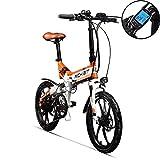 Vélo électrique Pliant 20 Pouces RITH BIT RT730, vélo électrique, Batterie au Lithium 250w * 8ah,Cadre en Alliage d'aluminium VTT, amortisseurs complets simano à 7 Vitesses