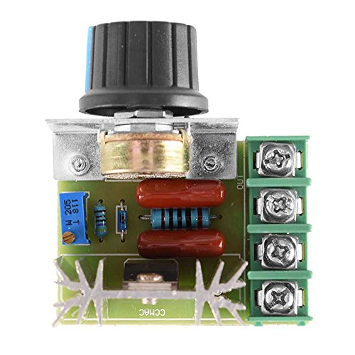 OcioDual Regulador de Voltaje AC PWM 2 Kw 10A Motor Controlador Resistencia Luz Velocidad
