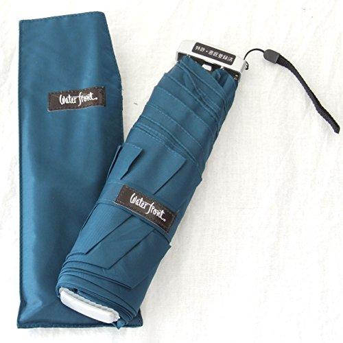 waterfront ウォーターフロント 薄型折りたたみ傘 ポケフラット 特許取得済 (Nダークブルー)