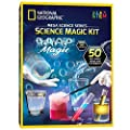 NATIONAL GEOGRAPHIC Magic Chemistry Set - Perform Amazing Easy Tricks with Science, Create a Magic Show with White Gloves & Magic Wand, Great STEM Learning Science Gift for Boys and Girls from JMW Sales, Inc.