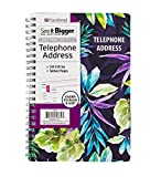 PlanAhead See It Bigger Telephone/Address Book; Large Print with Tabbed Pages (Neon Floral)
