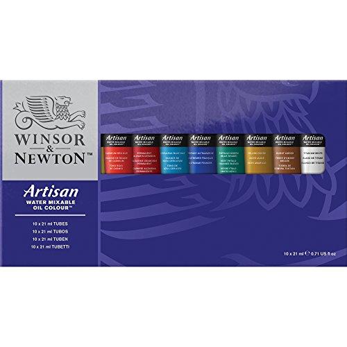 Winsor & Newton para óleos solubles al Agua Color 10-Juego de Tubos, 21 ml