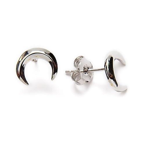 4ac886e4f300 Pendientes de plata de Ley 925 Luna invertida para regalo mujer con caja  elegante. Perfecto