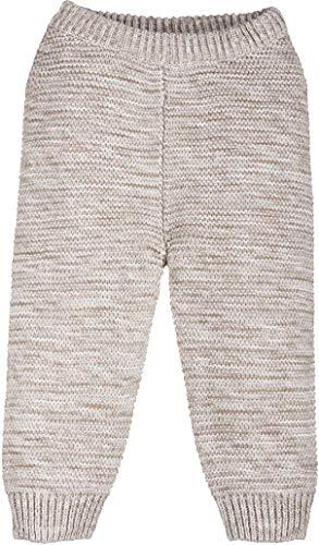 lupilu® Baby Jungen Mädchen Strickhose aus 100% Bio-Baumwolle (Hellbeige getwistet, Gr. 50/56)