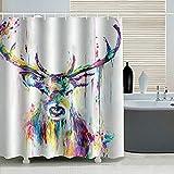 VIHII 180x180cm Anti-Schimmel Wasserdicht Duschvorhang,Anti-bakterieller Vorhang für die Dusche inkl. 12 Duschvorhangringen, Blickdichter Vorhang aus 100prozent Polyester