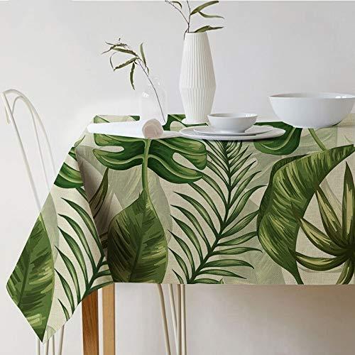 Tafelkleed Nordic palm bladeren plant tafelkleed bedrukt tafelkleed waterdicht linnen polyester rechthoekig eettafel stof decoratie textiel 140x260cm