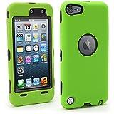 iGadgitz U6668 Rígida Funda con Pantalla Adecuado para Apple iPod Touch 5/6/7th Gen -Verde/Negro