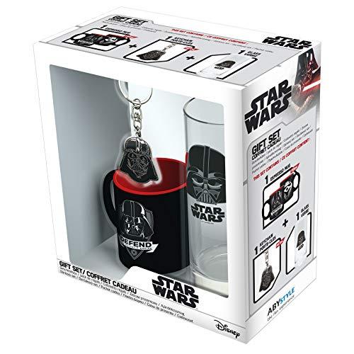 ABYstyle - Star Wars - Geschenk Box - Darth Vader - Glas + Schlüsselanhänger + Mini Tasse