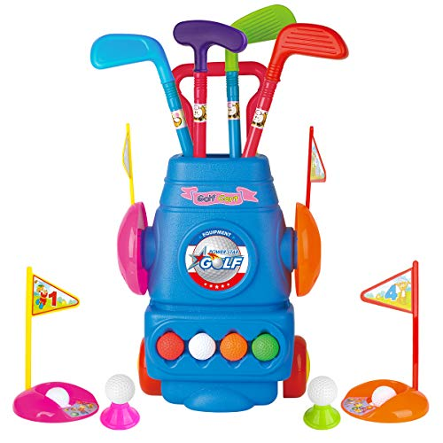 Meland Kids Golf Club Set - Toddler Golf Ball Game Play Set Sports Toys Gift for Boys Girls 3 4 5 6 Year Old