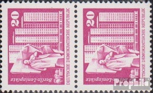 Prophila Collection DDR 1869sP senkrechtes Paar 1973 Aufbau in der DDR, Kleinformat (I) (Briefmarken für Sammler)