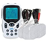Intensity at Home TENS Unit Muscle Stimulator Bundle Pack - Includes Specific Settings for Back Pain, Neck Pain, Body Pain - Electric Massager for Muscles - 12 TENS Pads