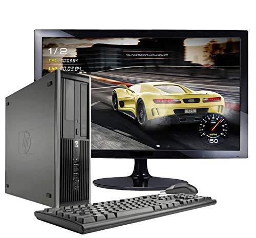 Hp Elite 8300 - Ordenador de sobremesa + Monitor 24'' (Intel Core i7-3770, 8GB de RAM, Disco de 240 SSD+ 500GB HDD, Lector DVD, WiFi,Windows 10 Pro 64) (Reacondicionado)