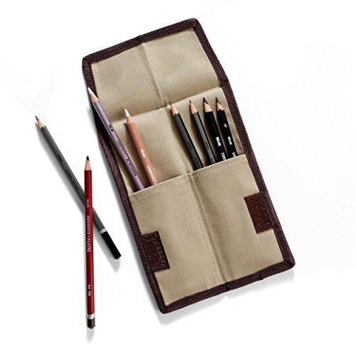 Derwent Pencil Case, Canvas Wrap Pencil Holder, Holds up to 12 Pencils (2300671)