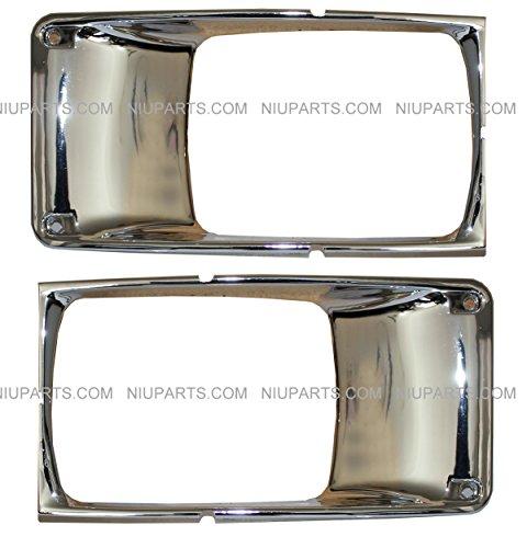 Headlight Bezel Chrome - Driver and Passenger Side (Fit: International 9400 9200 8100 8200 8300 4900 4700 4800 Trucks)