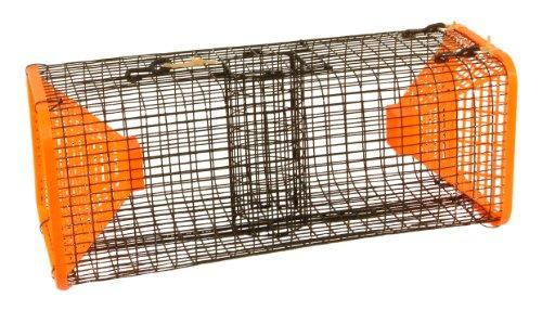Protoco 9 x 9-Inch Crawfish Trap Black/Orange, 9 X 9 X 24-Inch