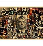 yuyu-beautiful Affiche en Toile Affiche Vintage Nirvana Kurt Cobain Dortoir Kraft Rock Orchestra Peinture Décorative Affiche Rétro Affiche 50X70 Cm sans Cadre