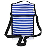 Cool Bag gel lined, freezable stylish lunch bag, fits 2 Wine Bottles or Food Containers. Wine Cooler or Lunch...