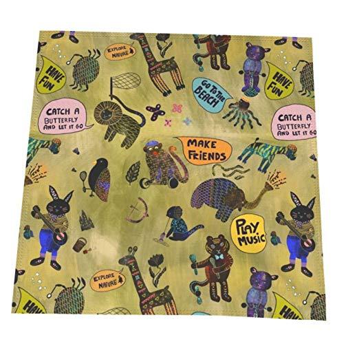 MZZhuBao Boy-Ideas Servilletas de poliéster con bordes dobladillos, ideales para bodas, fiestas, cenas de vacaciones y más, 20 x 20 en 2 unidades