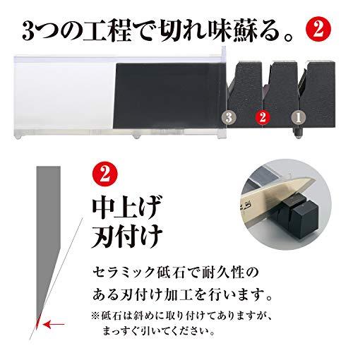 『貝印 KAI ダイヤモンドセラミックシャープナー 片刃用 日本製 AP0162』の3枚目の画像
