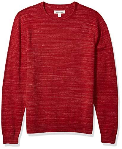 Goodthreads Soft Cotton Crewneck Summer Sweater Pullover, Rouge, XXL