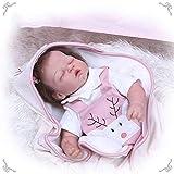 Muñecas Reborn Hechas a Mano, bebé Reborn de 20 Pulgadas, sensación de Piel Casi Real Realista Realista durmiendo Silicona Muñecas corporales ponderadas Suaves